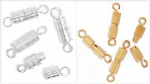 CF01\608 Barrel Clasp: Plated: 5 Packs of 4 - Full Colour Range